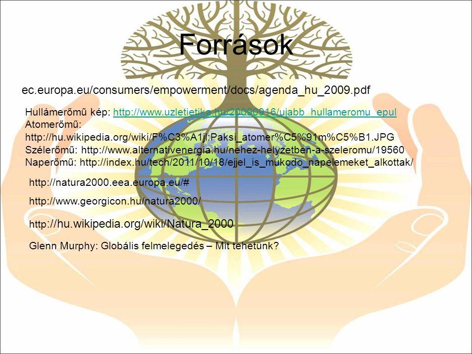 Források ec.europa.eu/consumers/empowerment/docs/agenda_hu_2009.pdf Hullámerőmű kép: http://www.uzletietika.hu/20090916/ujabb_hullameromu_epulhttp://w