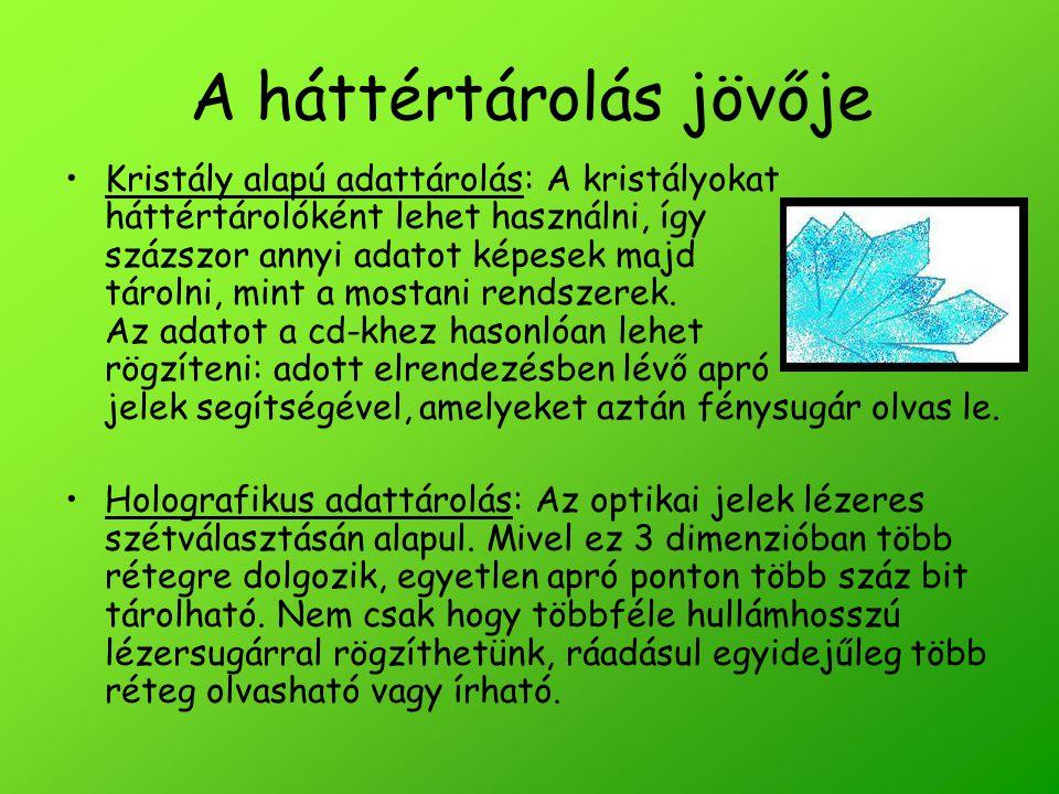 Források Szövegforrások: http://tech.transindex.ro http://pcworld.hu http://hu.wikipedia.org http://www.tferi.hu Képforrások: http://www.google.hu (segítség a képrajzoláshoz)