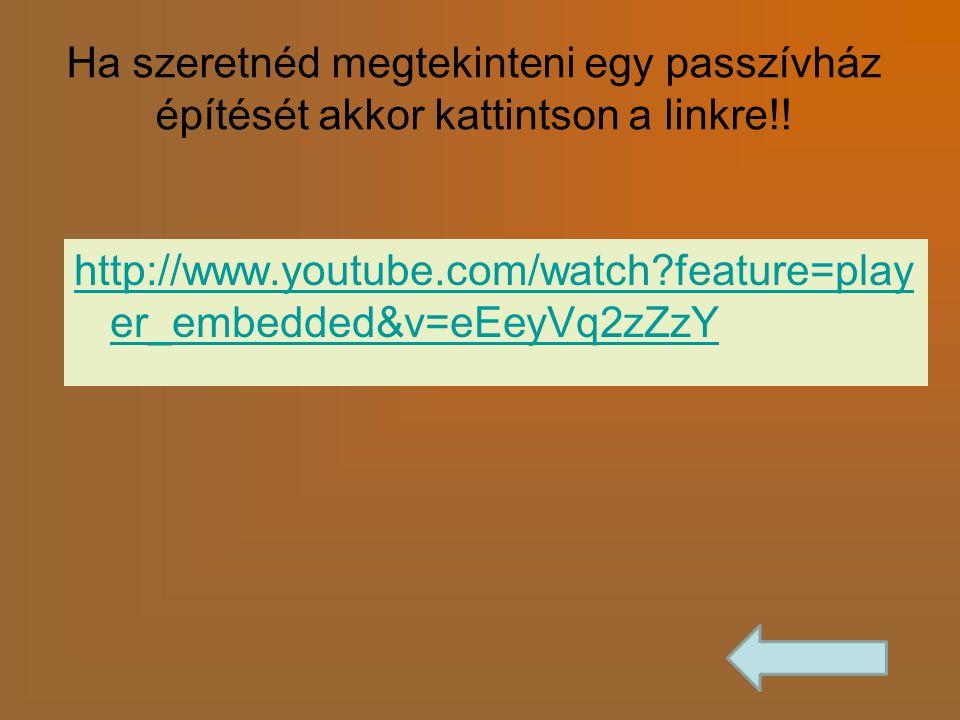 Ha szeretnéd megtekinteni egy passzívház építését akkor kattintson a linkre!! http://www.youtube.com/watch?feature=play er_embedded&v=eEeyVq2zZzY