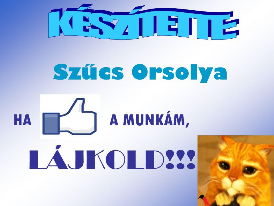 Szűcs Orsolya HA A MUNKÁM, LÁJKOLD!!!
