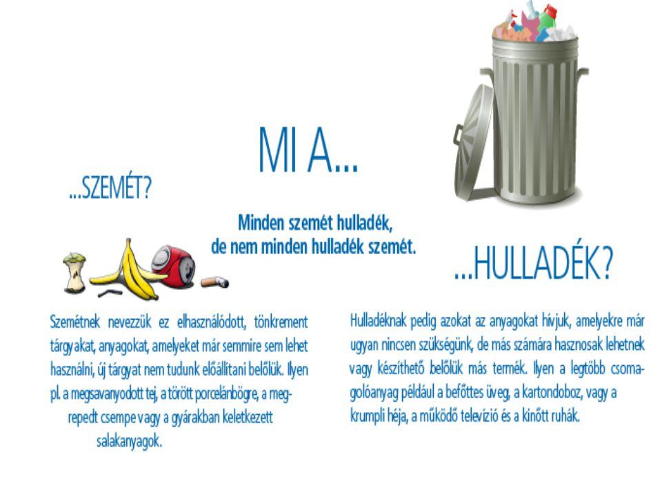A hulladék és a szemét A különbség az előző definíciók után könnyen leszűrhető.