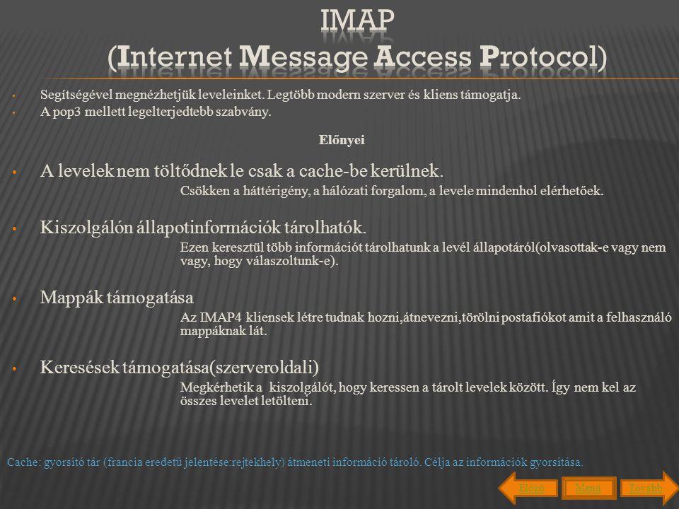 Mark Crispin fejlesztette ki 1986-ban.Ki fejlesztette ki az IMAP-ot.