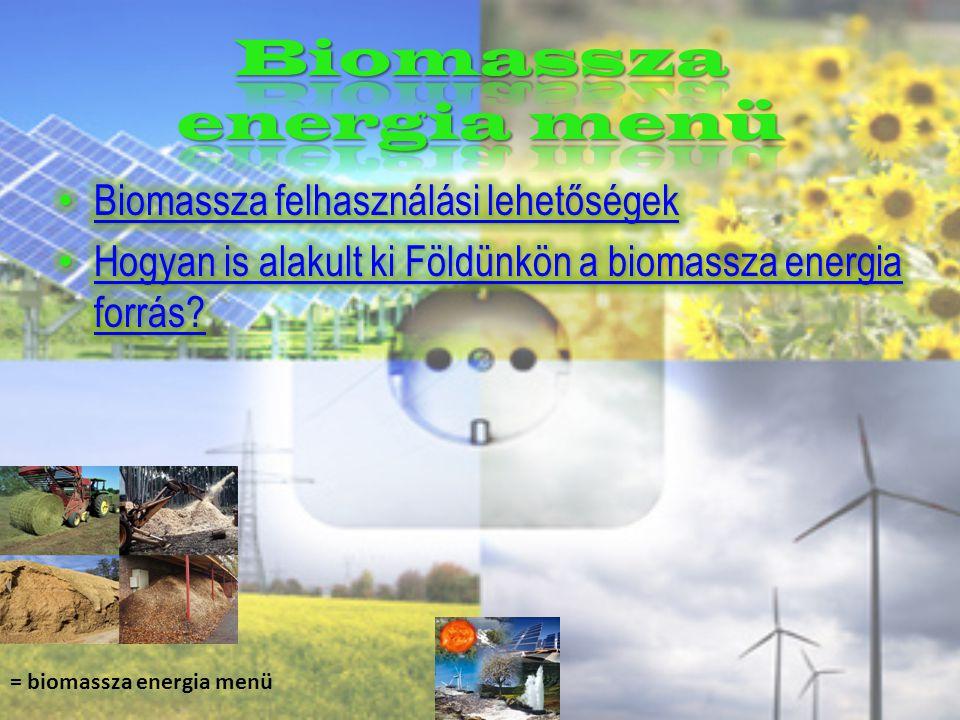 = biomassza energia menü