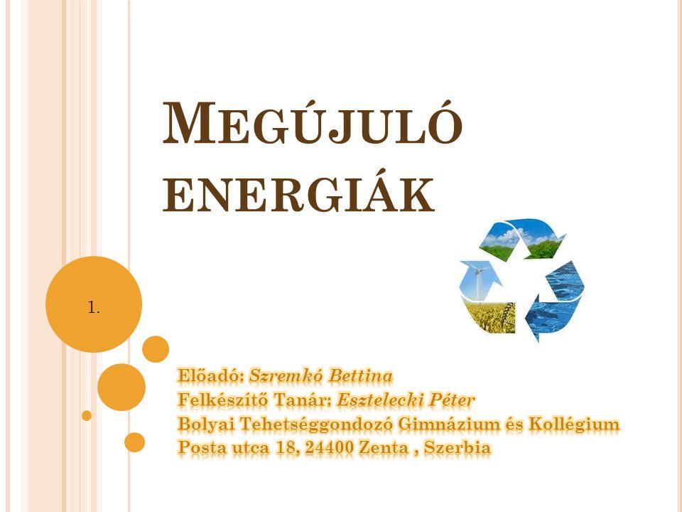 A világon egyre jobban kimerülnek a hasznos energiaforrások (kőolaj,földgáz...) amik megkönnyítik mindennapjainkat...