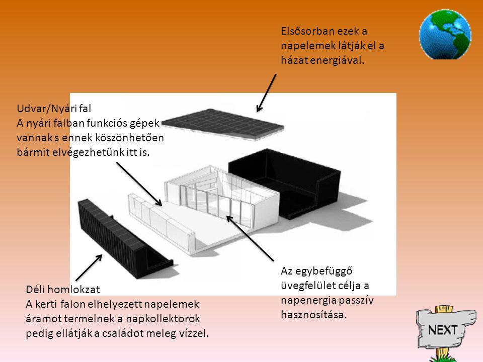 Elsősorban ezek a napelemek látják el a házat energiával.