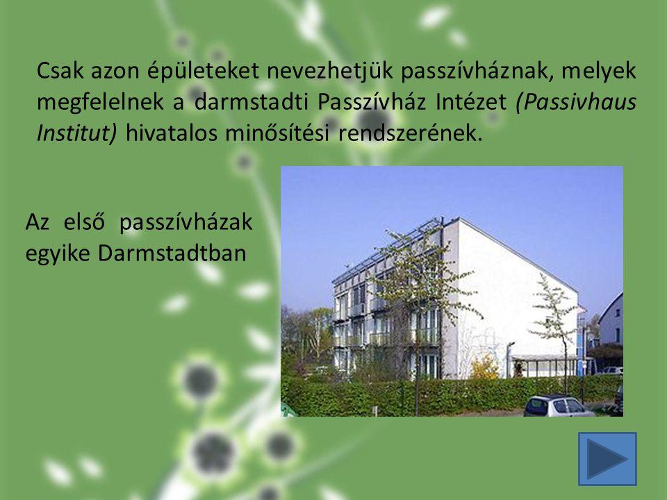 Az első passzívházak egyike Darmstadtban