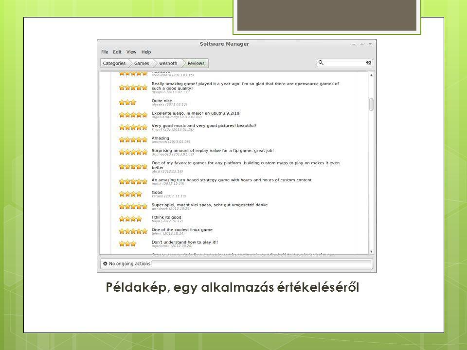 Példakép, egy alkalmazás értékeléséről