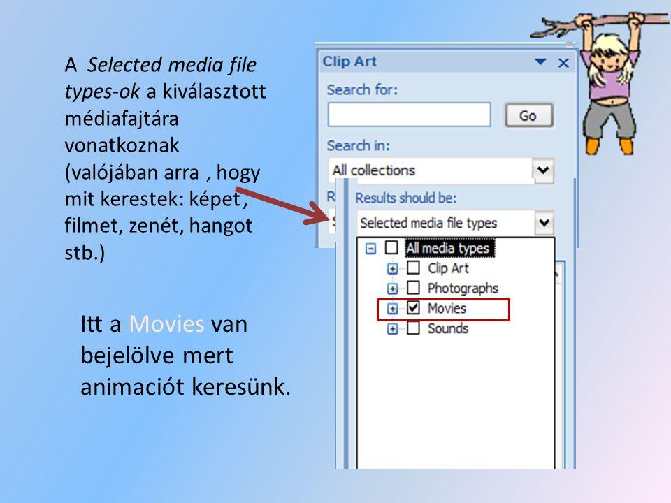 Ha megnyitottátok az opciót akkor egy Clip Art nevü menüsor fog megjelenni a képernyő jobb oldalán. Itt a Search for segítségével, kedvetekre keresgél