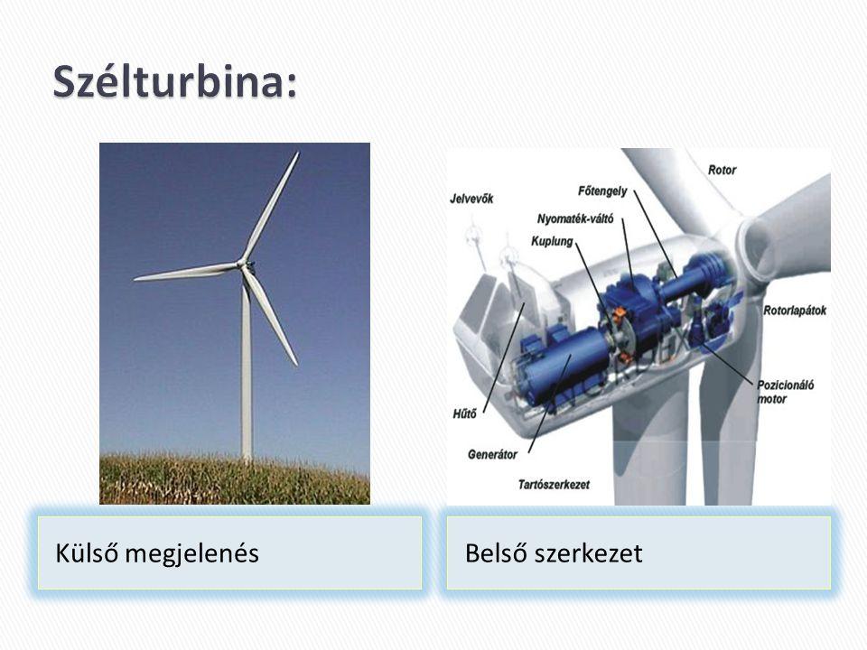 A folyók, tavak, vízfolyások mechanikai energiáját turbinák segítségével alítják át elektromos árammá.
