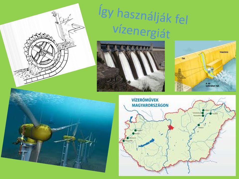 Így használják fel vízenergiát