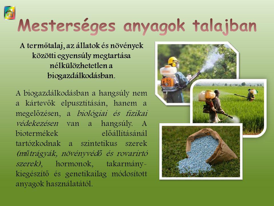 A term ő talaj, az állatok és növények közötti egyensúly megtartása nélkülözhetetlen a biogazdálkodásban.