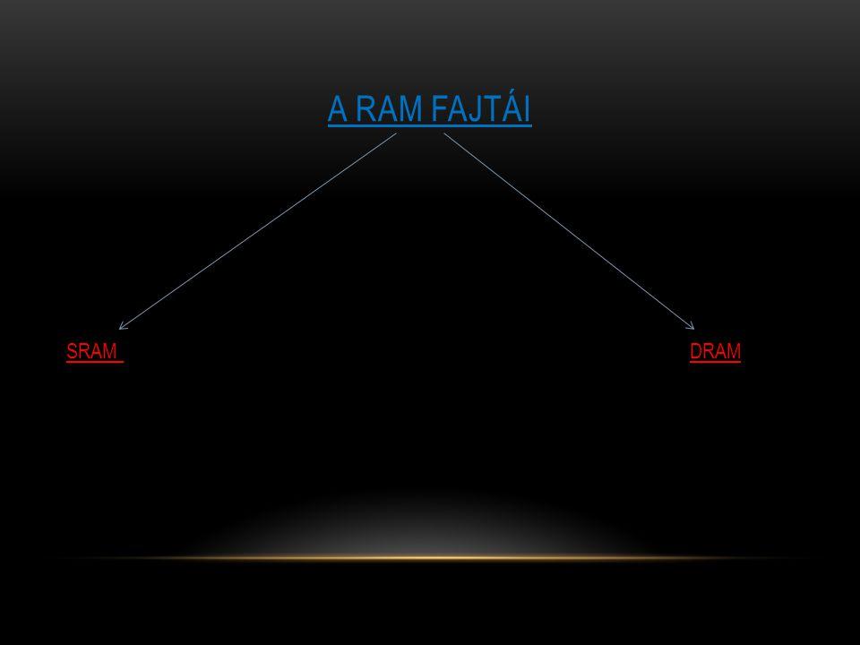 SRAM A RAM FAJTÁI : SRAM Minden memóriacellát egy kétállapotú tároló alkot.