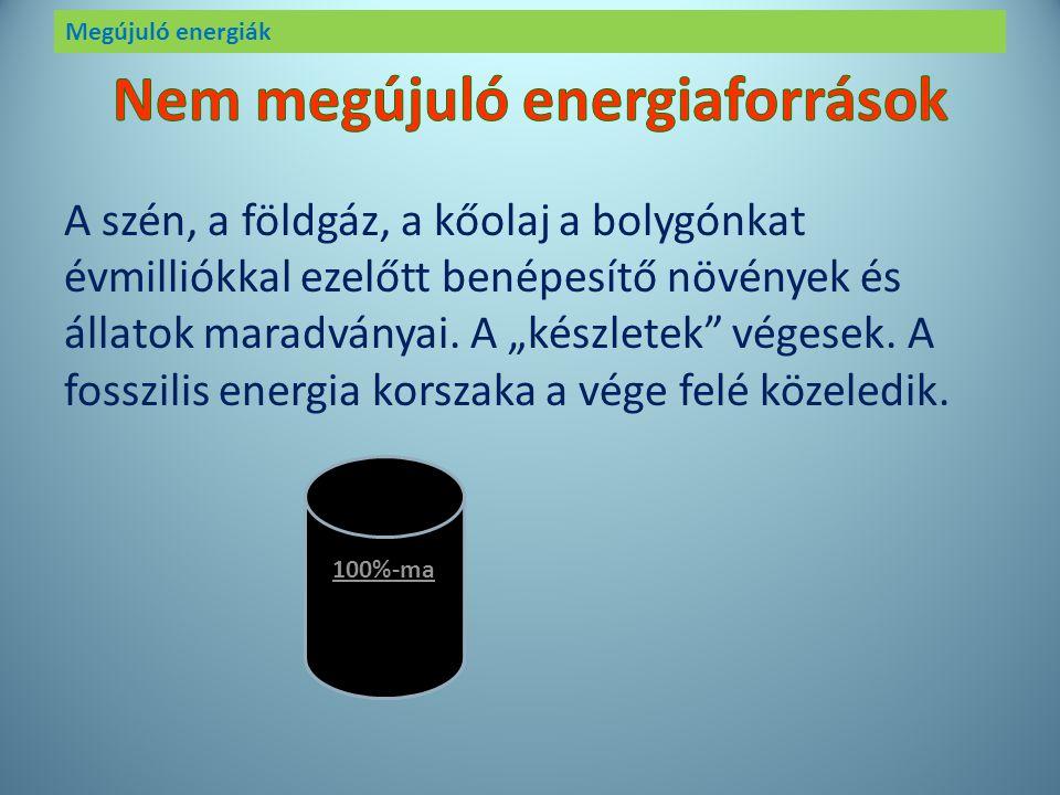 Megújuló energiák ENERGIA KŐOLAJ SZÉNFÖLDGÁZ