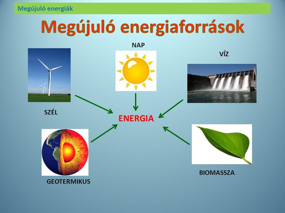 Megújuló energiák Az erőművek feladata, hogy elektromos energiát termeljenek és szolgáltassanak. A hagyományos erőművek szén vagy földgáz elégetésével