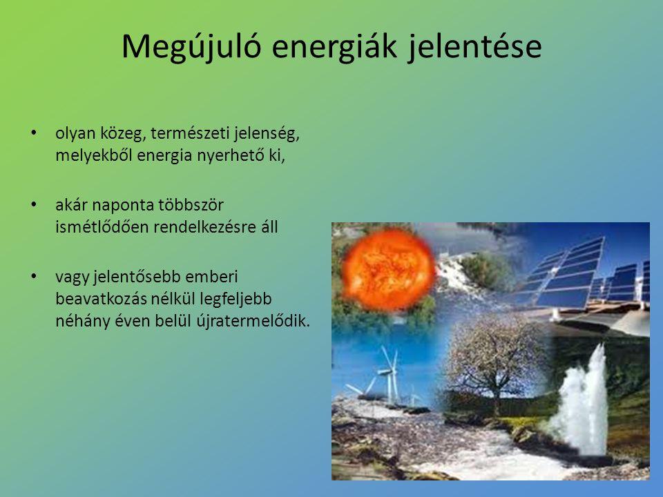 olyan közeg, természeti jelenség, melyekből energia nyerhető ki, akár naponta többször ismétlődően rendelkezésre áll vagy jelentősebb emberi beavatkoz
