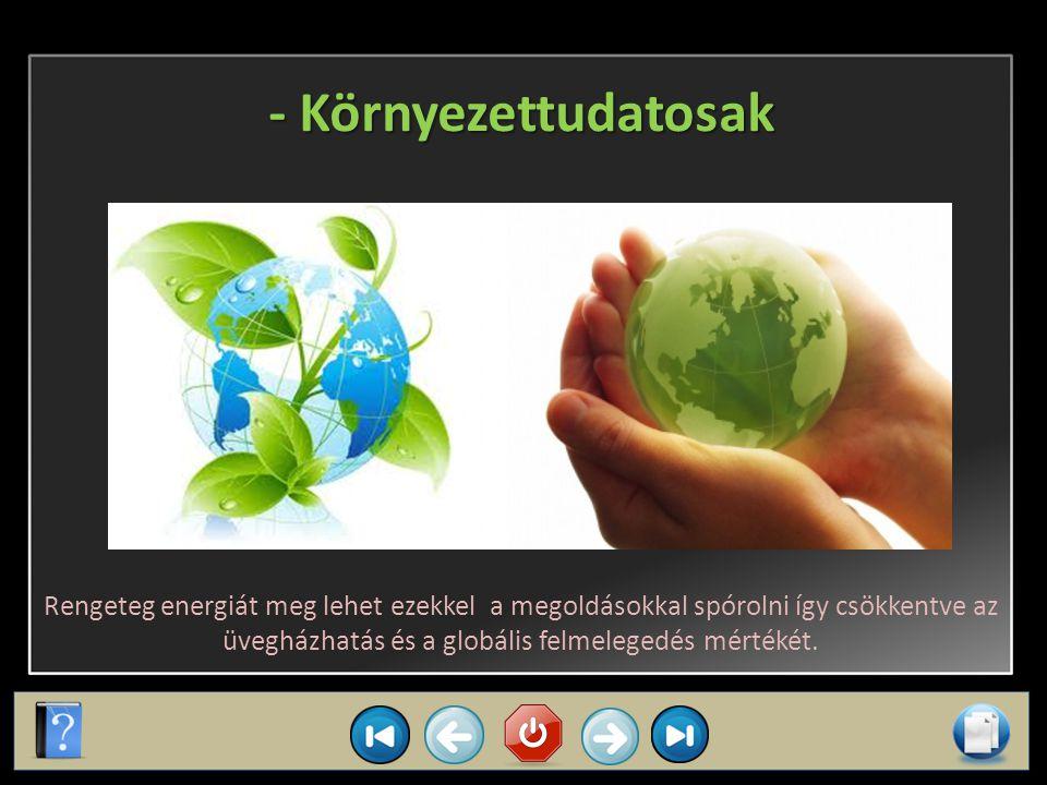 Miért van ezekre szükség? Energiatakarékos megoldásokra szükség van, mert: - Pénztárcakímélőek