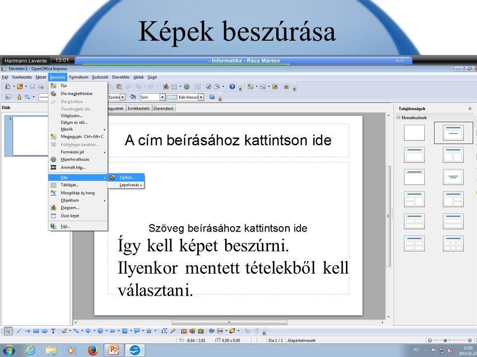 Eszköztár Az eszköztárban sok ikon található, például: 1.helyesírás ellenőrzés, 2.nyomtatás, 3.mentés, 4.megnyitás.