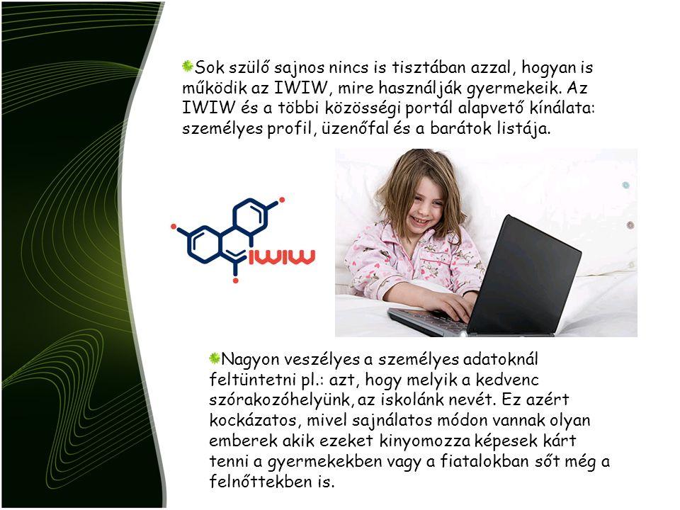 Sok szülő sajnos nincs is tisztában azzal, hogyan is működik az IWIW, mire használják gyermekeik. Az IWIW és a többi közösségi portál alapvető kínálat