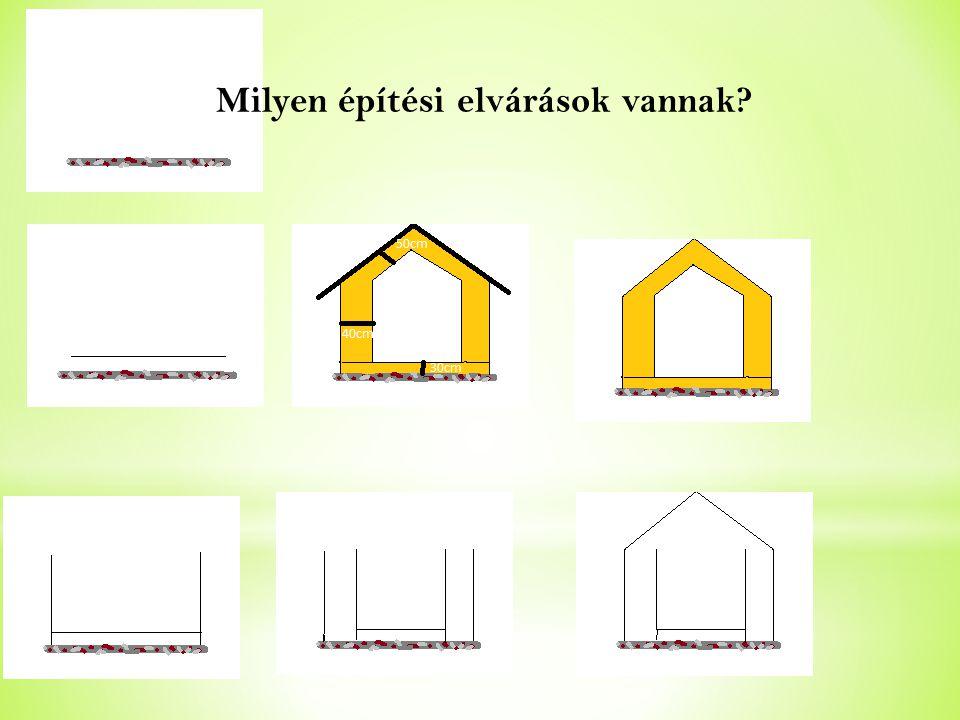 Milyen építési elvárások vannak?