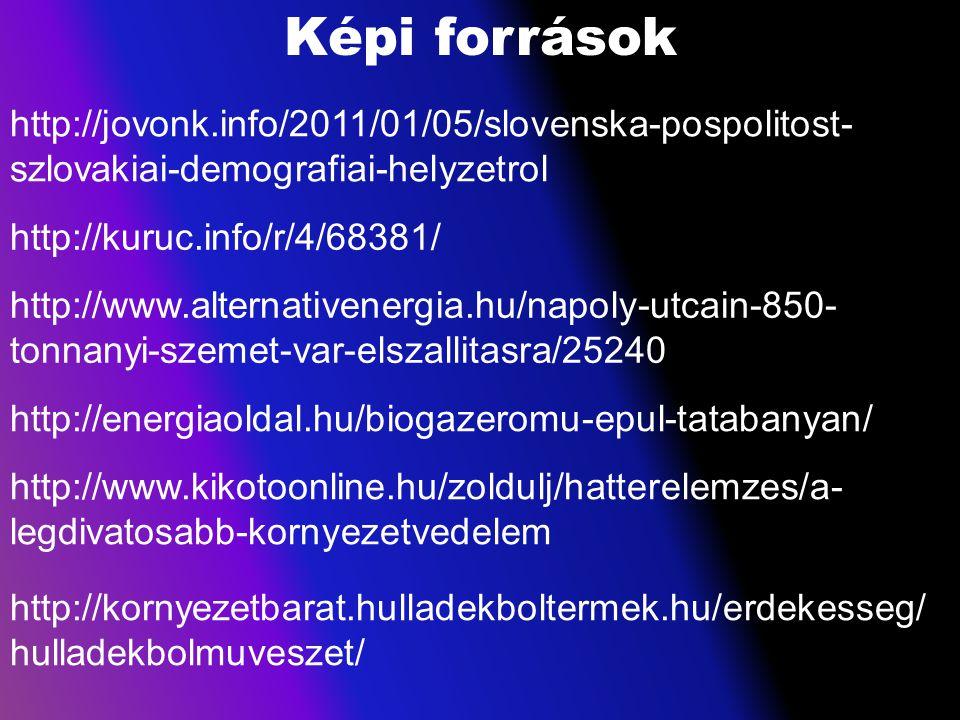 Képi források http://jovonk.info/2011/01/05/slovenska-pospolitost- szlovakiai-demografiai-helyzetrol http://kuruc.info/r/4/68381/ http://www.alternati