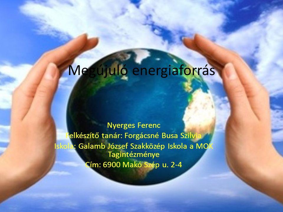 Geotermikus energia A geotermikus energia a Föld belső hőjéből származó energia A Föld belsejében lefelé haladva kilométerenként átlag 30 °C-kal emelkedik a hőmérséklet.