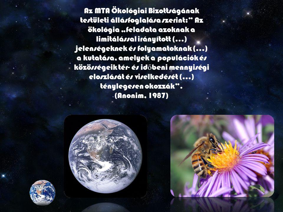 Alapjai Az ökológia, mint tudomány elnevezését Ernst Haeckel használta el ő ször 1866-ban az él ő lények és környezetük kapcsolatát vizsgáló fiziológiai szakterület megjelölésére Tehát a maitól nagyon eltér ő módon Igaz nem sokkal kés ő bb már Ő maga is árnyaltabb véleményt alkotott.