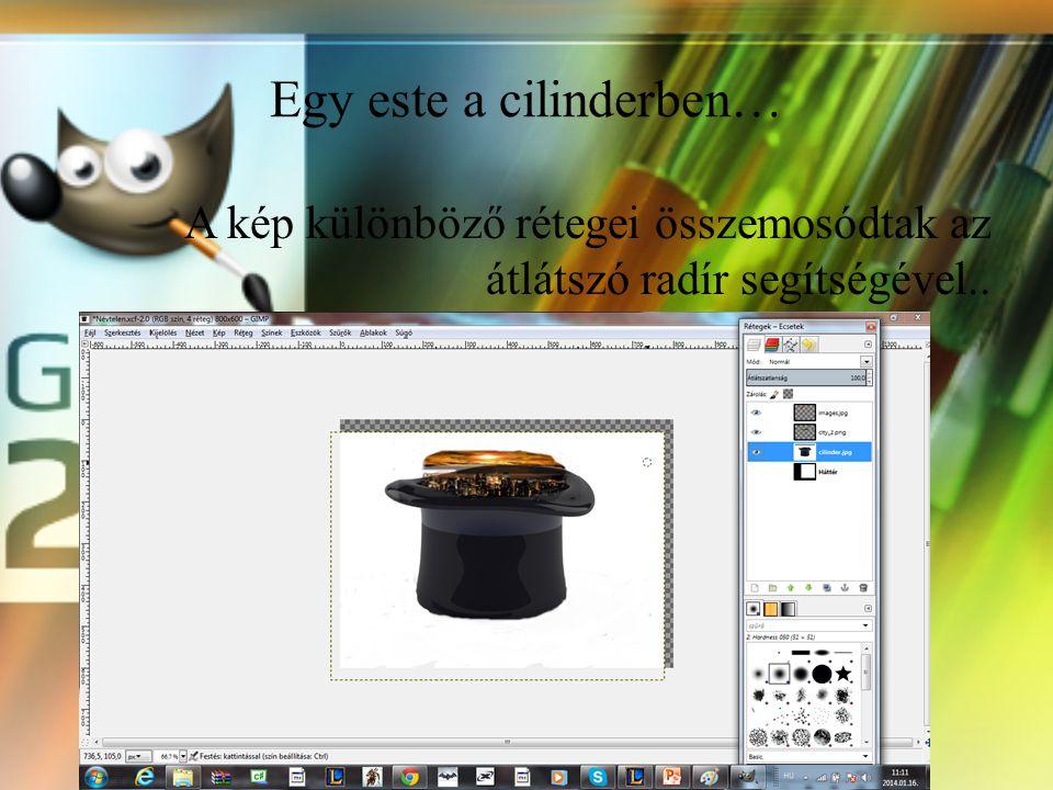 Alkotásom szemléltetése A most következő képet egy youtube videó ihlette meg. Lenyűgözött a készítő tudása, hogy egyszerű halványítással és átlátszhat
