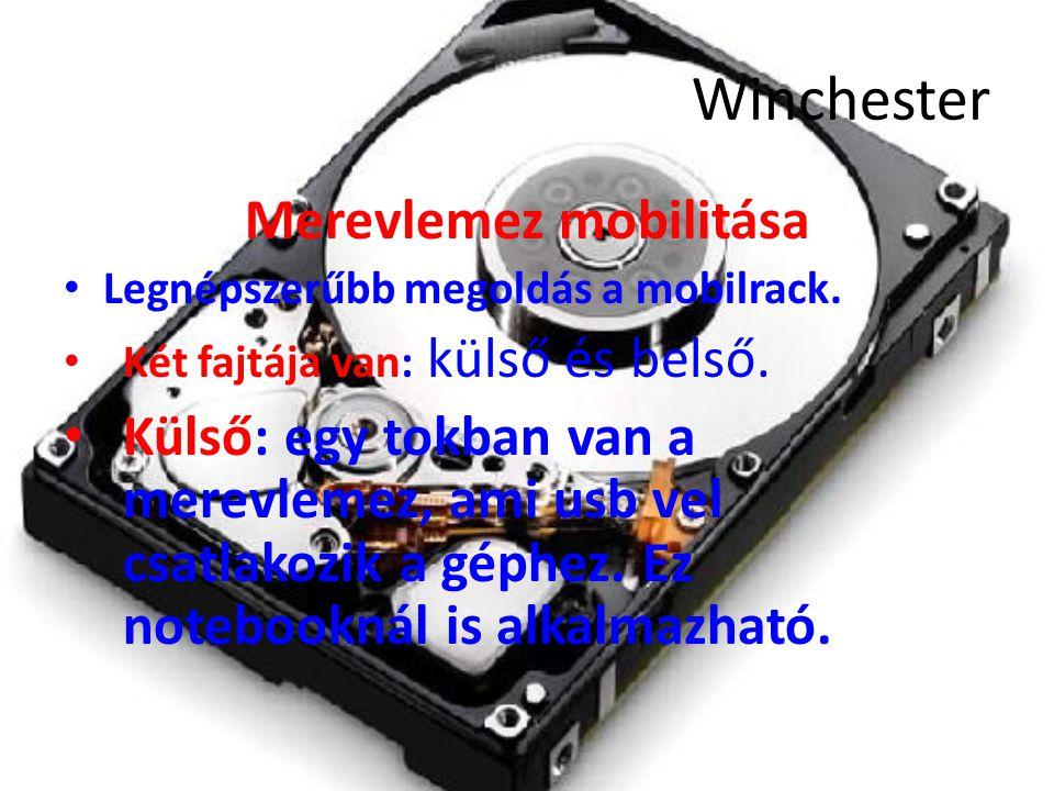 Winchester Merevlemez mobilitása Legnépszerűbb megoldás a mobilrack.