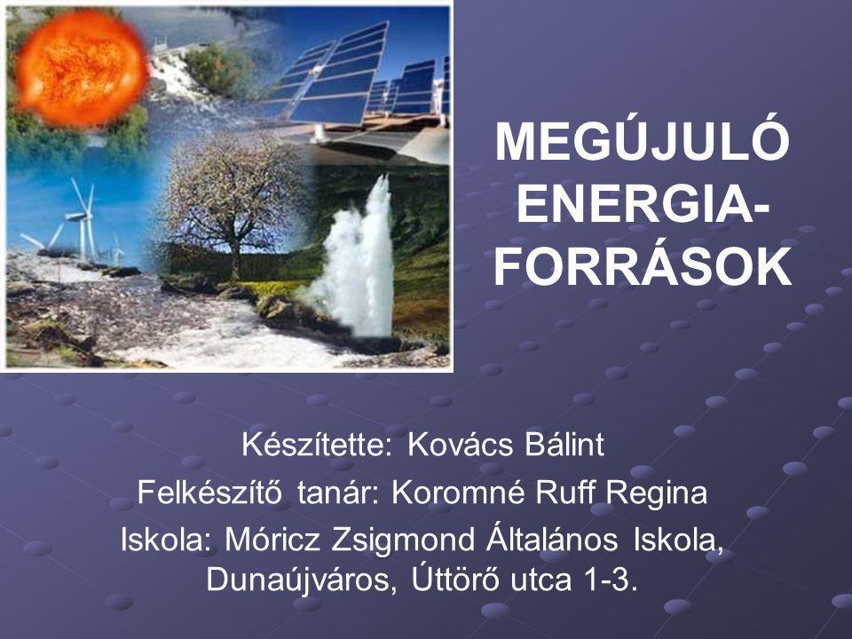 A megújuló energiaforrás olyan közeg, természeti jelenség, melyekből energia nyerhető ki, és amely akár naponta többször ismétlődően rendelkezésre áll, vagy jelentősebb emberi beavatkozás nélkül legfeljebb néhány éven belül újratermelődik.