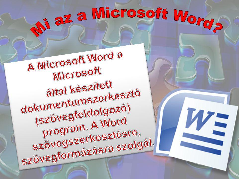 Első változatát Richard Brodie írta 1983-ban DOS-t futtató IBM PC-kre Azóta megjelent Apple Macintosh-ra (1984), SCO UNIX-ra és Microsoft Windowsra (1989) is A Word 6 for Windowstól kezdődően a Windowsra készült Word-verziók magyar nyelven is megjelentek