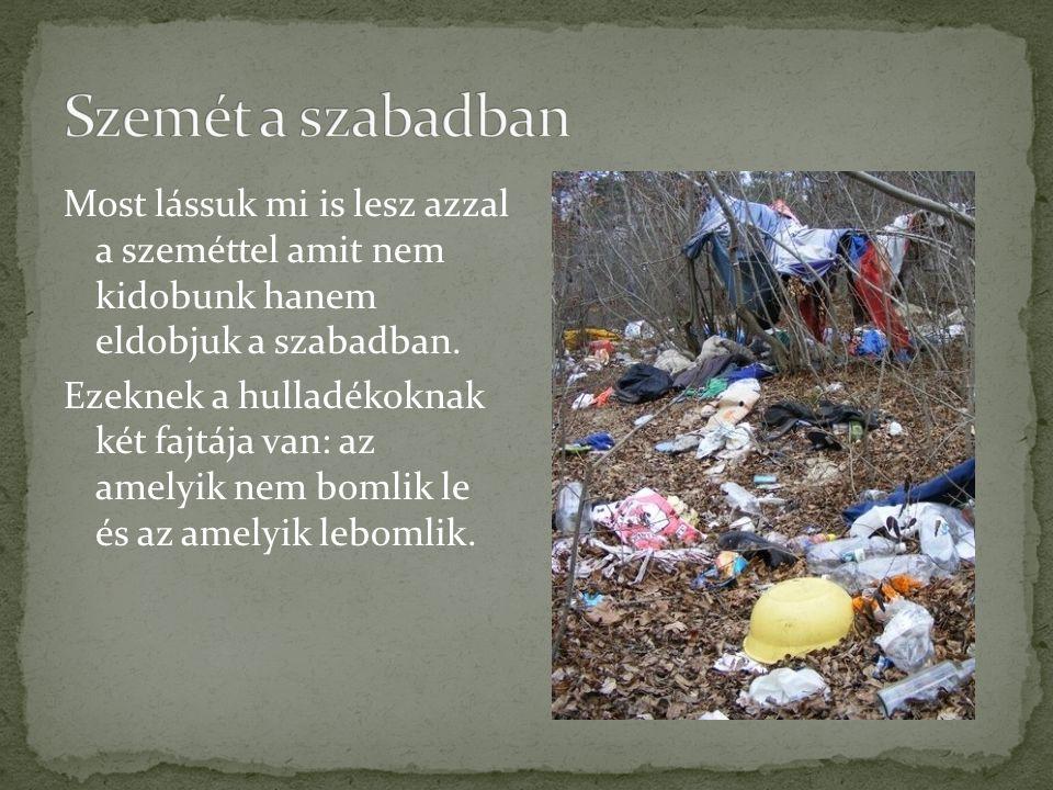 Sok olyan hulladékot dobnak el a szabadban ami szerencsére lebomlik.