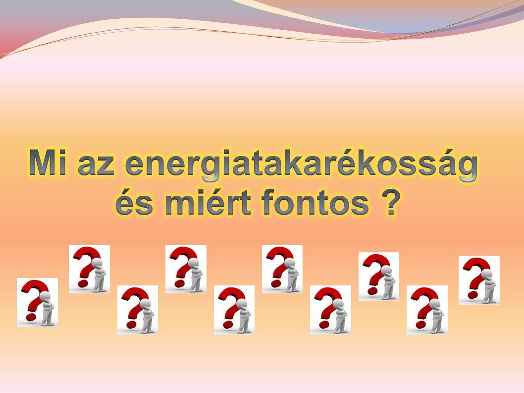 Korunkban egyre inkább előtérbe kerülnek az energiafelhasználás kérdései, mert jóval több energiát és nyersanyagot használunk, mint amennyire valójában szükségünk lenne.