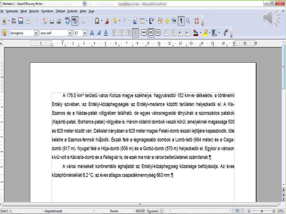 Bekezdés igazítása Formátum menü / Bekezdés pont Vagy: Helyi menü / Bekezdés pont