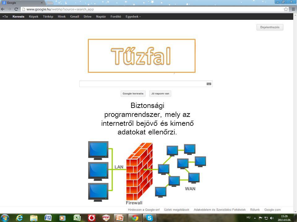 Biztonsági programrendszer, mely az internetről bejövő és kimenő adatokat ellenőrzi.