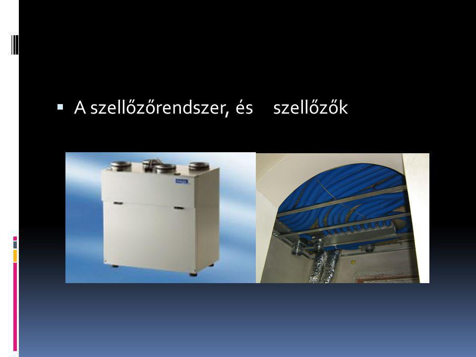  A szellőzőrendszer, és szellőzők