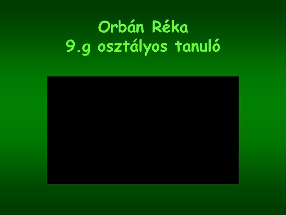 Orbán Réka 9.g osztályos tanuló