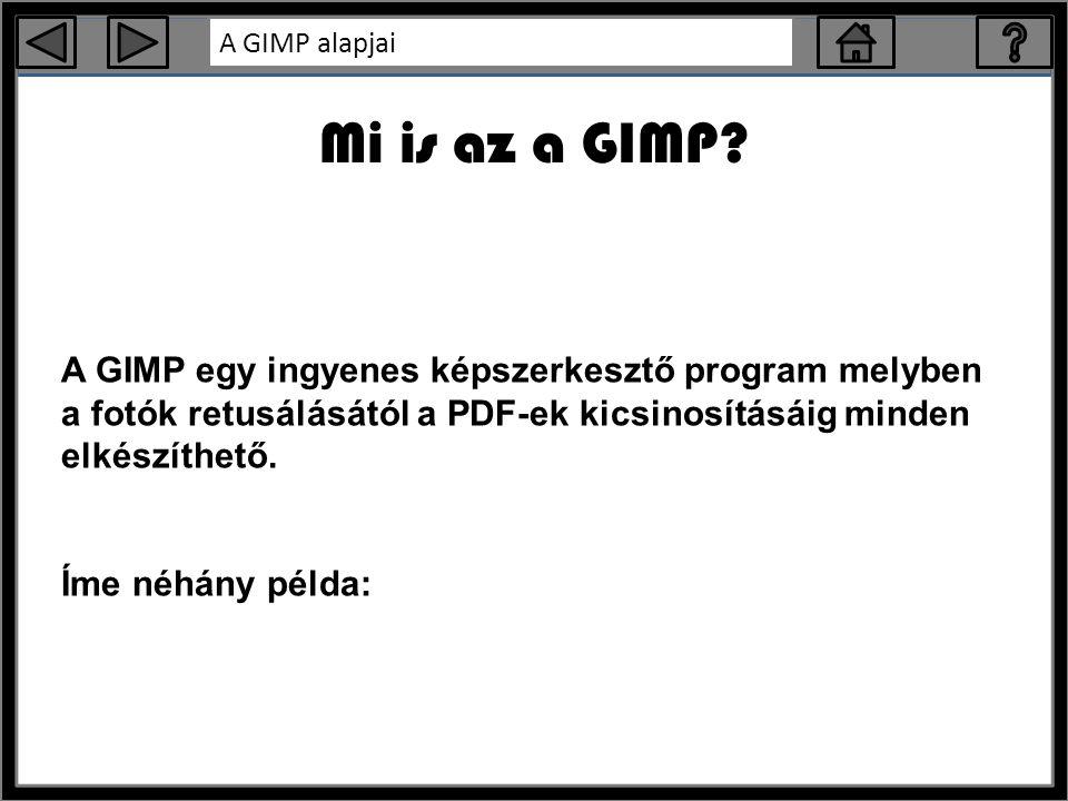 A GIMP alapjai Mi is az a GIMP.
