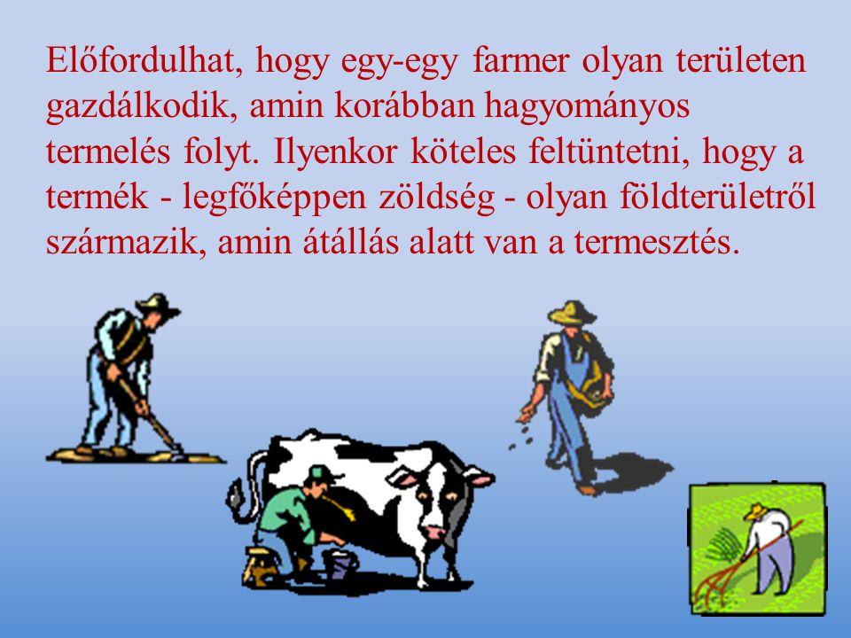 Előfordulhat, hogy egy-egy farmer olyan területen gazdálkodik, amin korábban hagyományos termelés folyt.