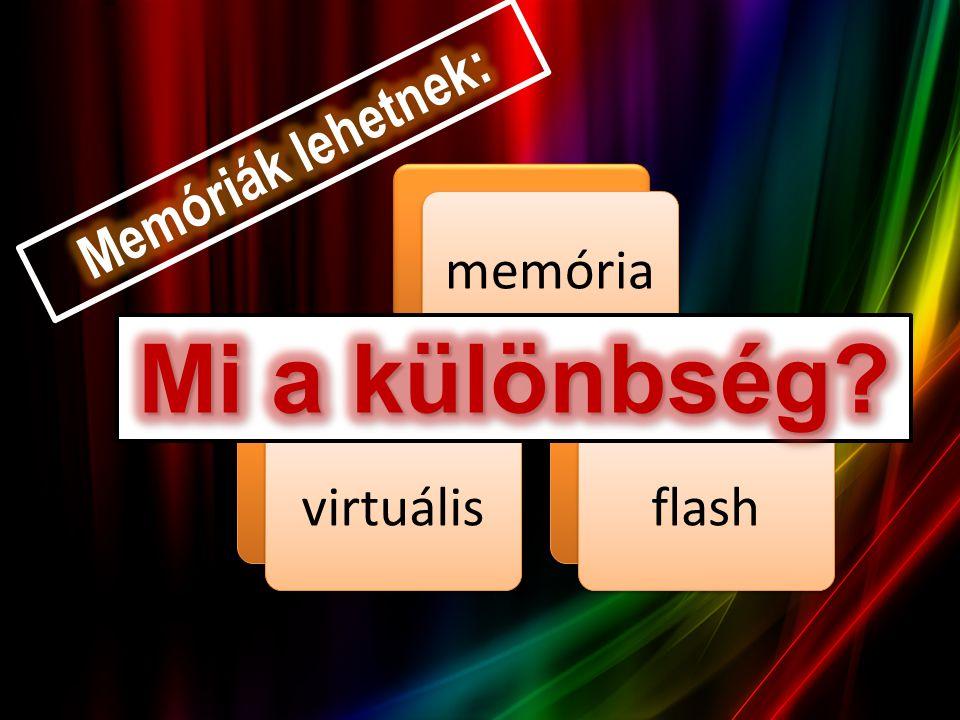 A virtuális memória egy, az operációs rendszer vagy a számítógép hardvere által nyújtott szolgáltatás.