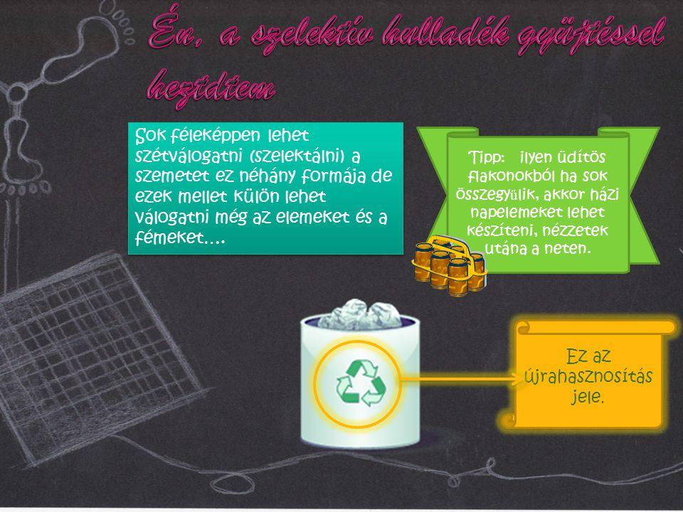 Ez az újrahasznosítás jele.