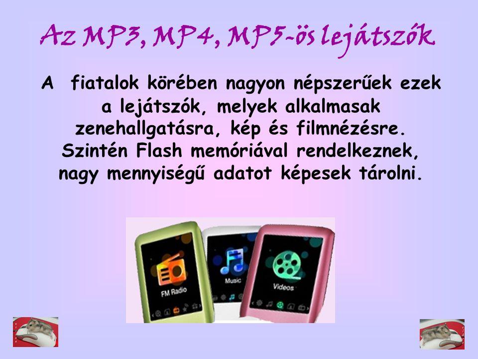 A fiatalok körében nagyon népszerűek ezek a lejátszók, melyek alkalmasak zenehallgatásra, kép és filmnézésre. Szintén Flash memóriával rendelkeznek, n