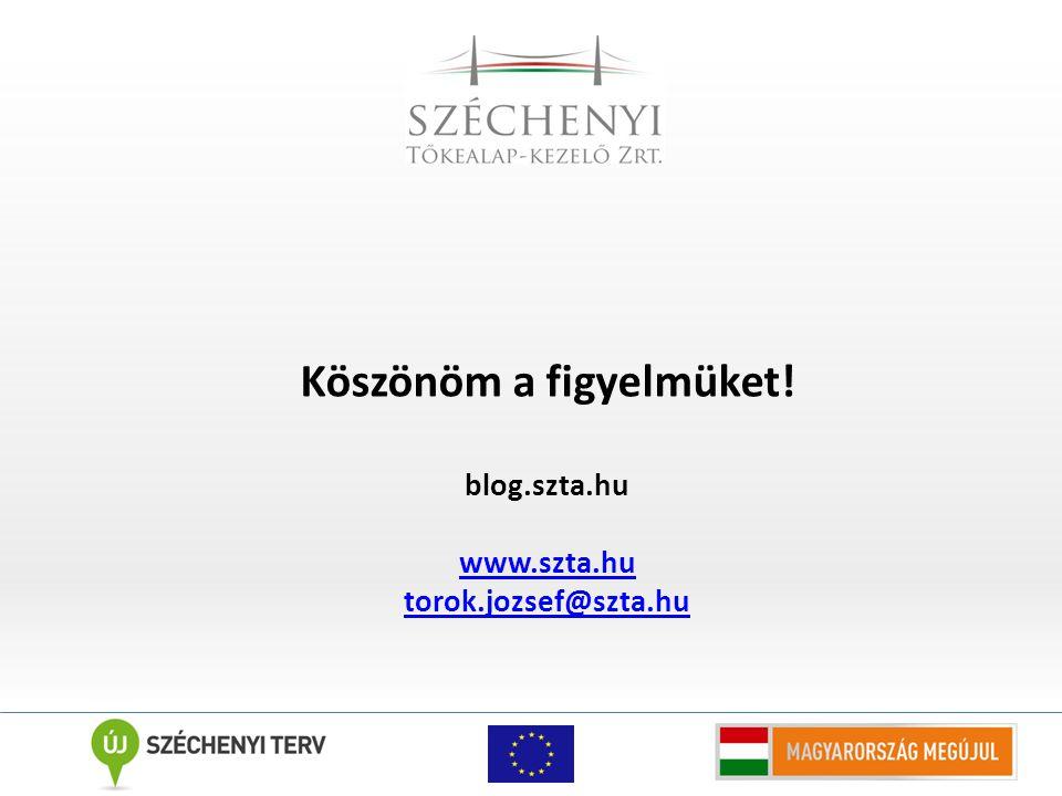 Köszönöm a figyelmüket! blog.szta.hu www.szta.hu torok.jozsef@szta.hu
