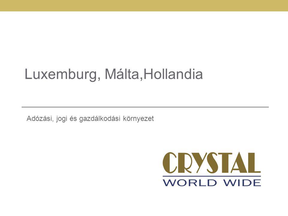 Luxemburg, Málta,Hollandia Adózási, jogi és gazdálkodási környezet