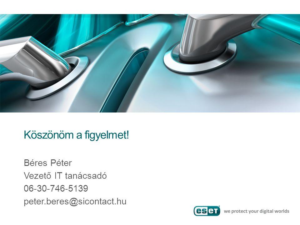 Köszönöm a figyelmet! Béres Péter Vezető IT tanácsadó 06-30-746-5139 peter.beres@sicontact.hu