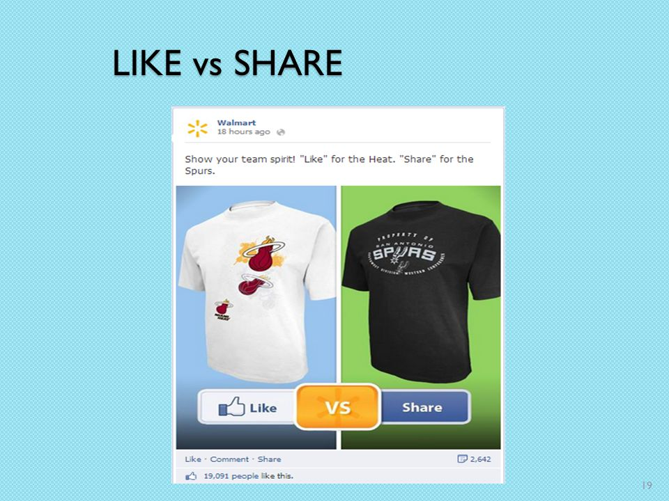 LIKE vs SHARE 19