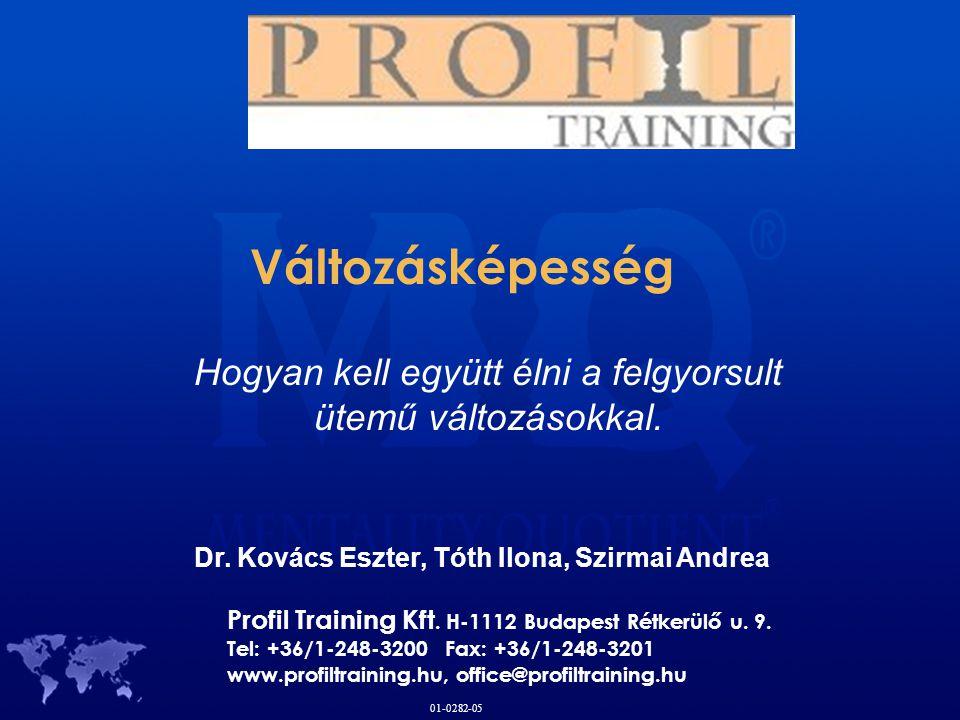 Profil Training Kft. H-1112 Budapest Rétkerülő u. 9. Tel: +36/1-248-3200 Fax: +36/1-248-3201 www.profiltraining.hu, office@profiltraining.hu 01-0282-0