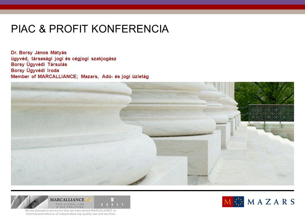 Titre de la présentation 1 PIAC & PROFIT KONFERENCIA Dr.