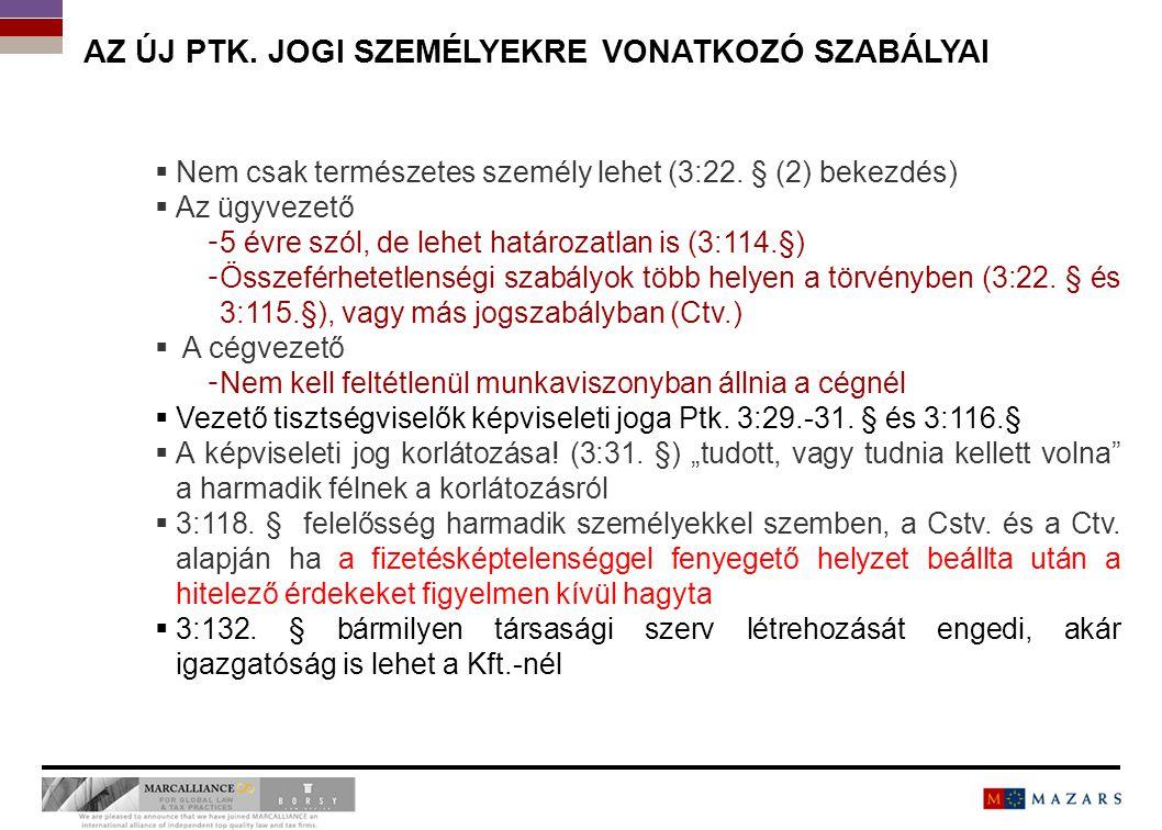A KFT-RE VONATKOZÓ KÜLÖNLEGES SZABÁLYOK 0202 7 Titre de la présentation
