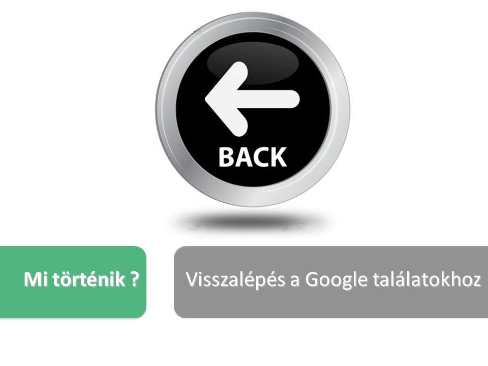 Mi történik Visszalépés a Google találatokhoz