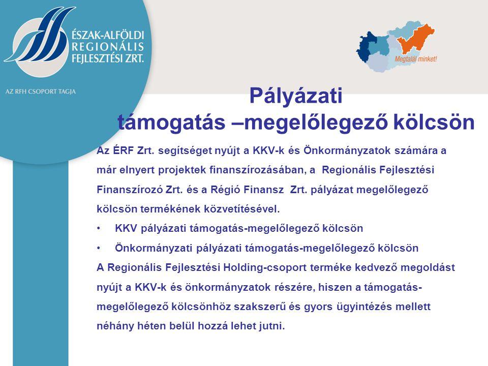 Az ÉRF Zrt. segítséget nyújt a KKV-k és Önkormányzatok számára a már elnyert projektek finanszírozásában, a Regionális Fejlesztési Finanszírozó Zrt. é